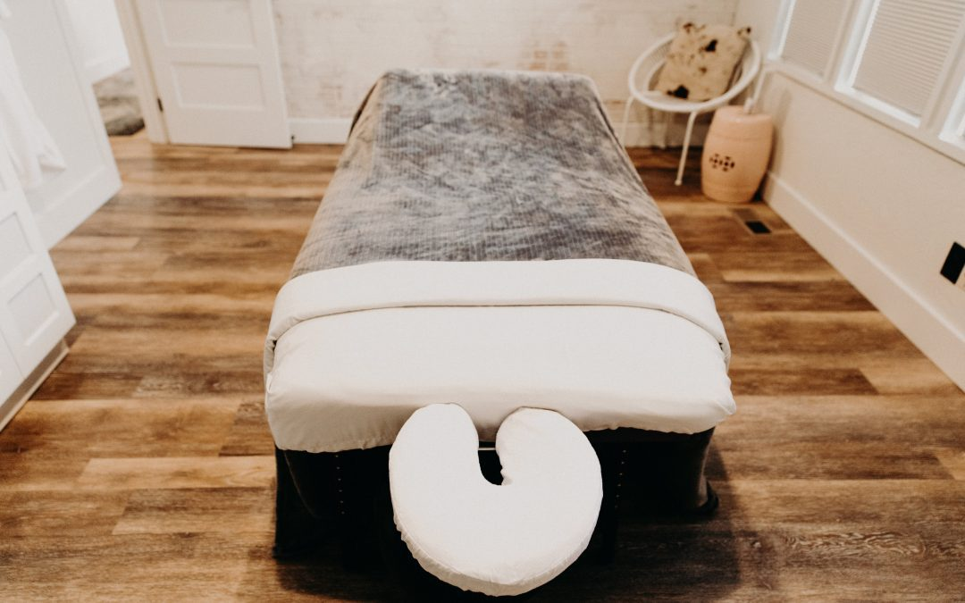 massage table at ballaura wellness spa
