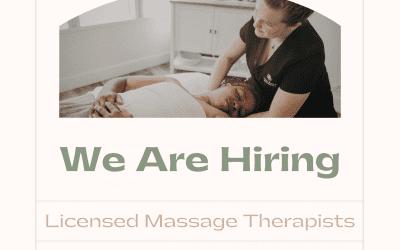 Hiring- Licensed Massage Therapist